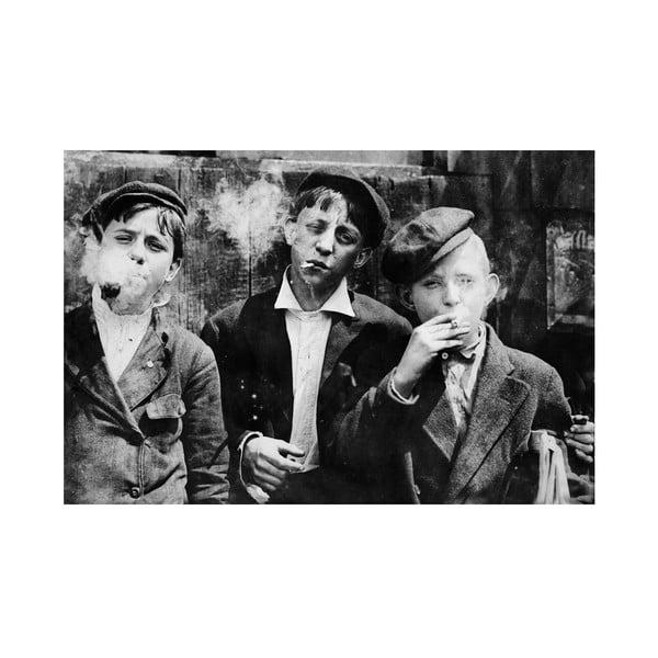 Fotoobraz Kouřící chlapci 90x60 cm