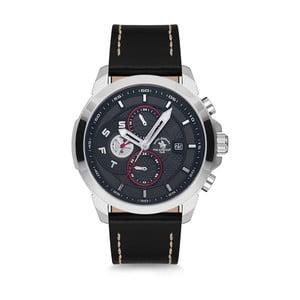 Pánské hodinky s koženým řemínkem Santa Barbara Polo & Racquet Club Peter