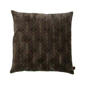 Hnědý bavlněný polštář BePureHome, 50x50cm