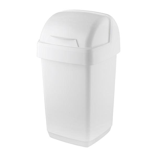Coș de gunoi Addis Roll Top, 22,5 x 23 x 42,5 cm, alb