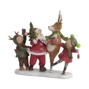 Dekorativní vánoční soška J-Line Santa Dance