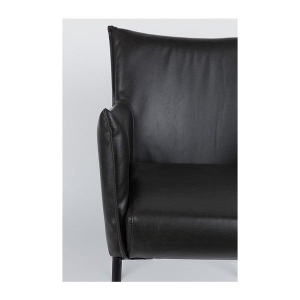 Sada 2 černých židlí White Label Dion