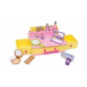 Dřevěný kosmetický kufřík na hraní Legler Beauty