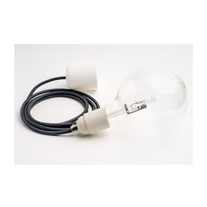 Barevný  kabel Loft se žárovkou, antracit
