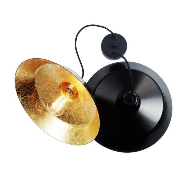 Sada dvou stropních lamp Cinco, černá/zlatá