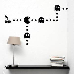 Samolepka na stěnu Pacman