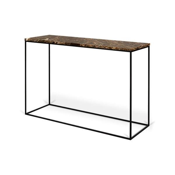 Konzolový stolek s deskou z hnědého mramoru TemaHome Gleam