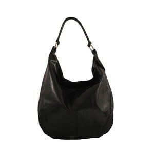 Černá kožená kabelka Francisca