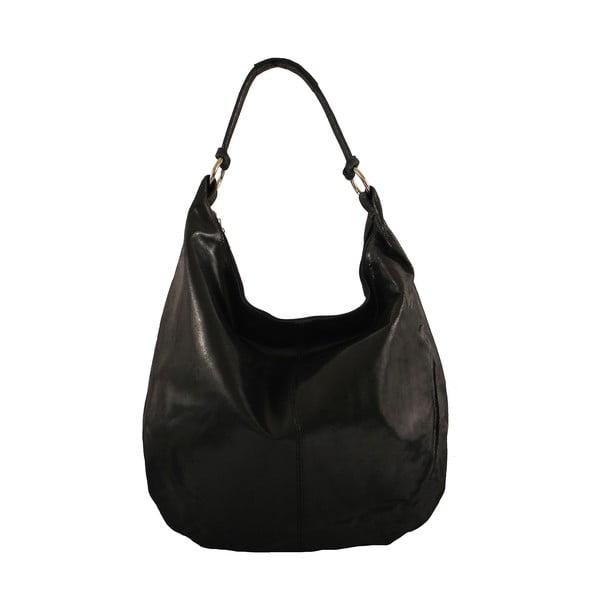 Černá kožená kabelka Chicca Borse Francisca