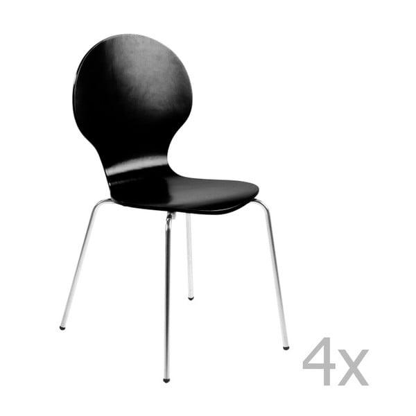 Sada 4 černých jídelních židlí Actona Marcus Dining Chair