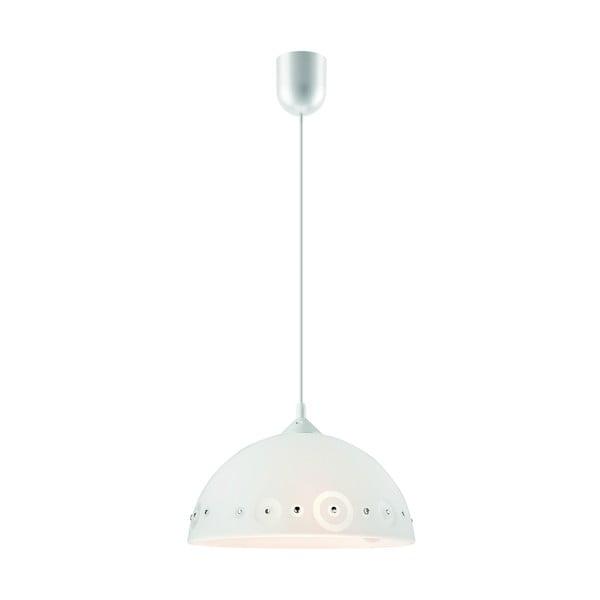 Bílé závěsné svítidlo Lamkur Dots