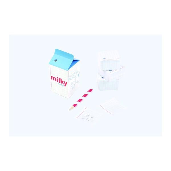 Poznámkový bloček s tužkou DOIY Milky Notes