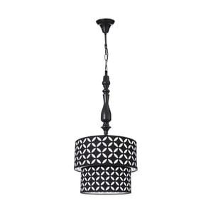 Černobílé závěsné svítidlo Ixia Agnese, ⌀35cm