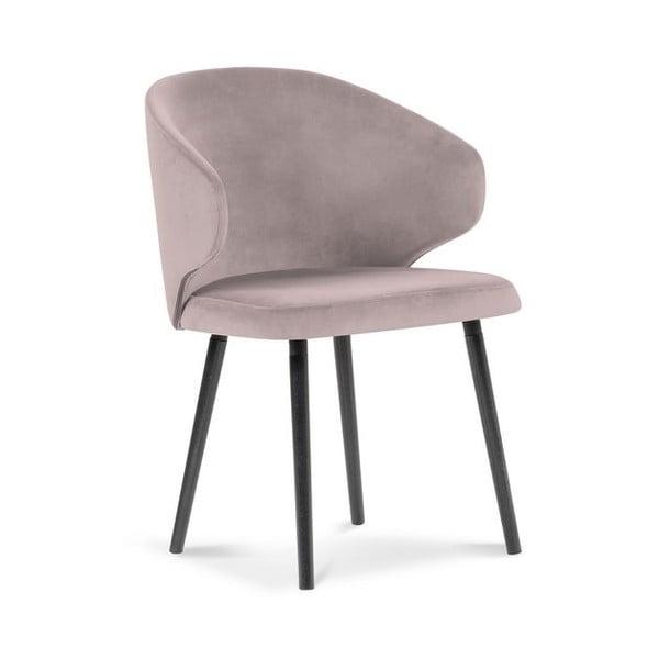 Levandulově fialová jídelní židle se sametovým potahem Windsor & Co Sofas Nemesis