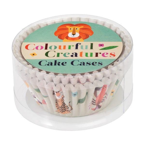 Sada 100 papírových pečících formiček na cupcaky Rex London Colorful Creatures