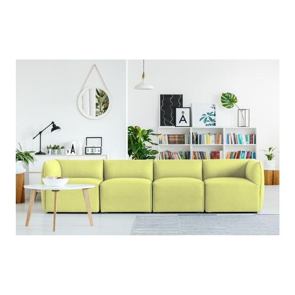 Limetkově zelená modulová čtyřmístná pohovka Norrsken Ollo