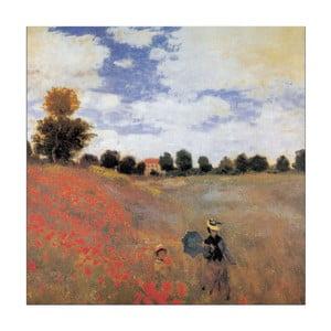 Monet - Detail Vlčí máky v Argenteuil