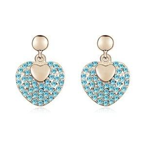 Pozlacené náušnice s modrými krystaly Swarovski Darling