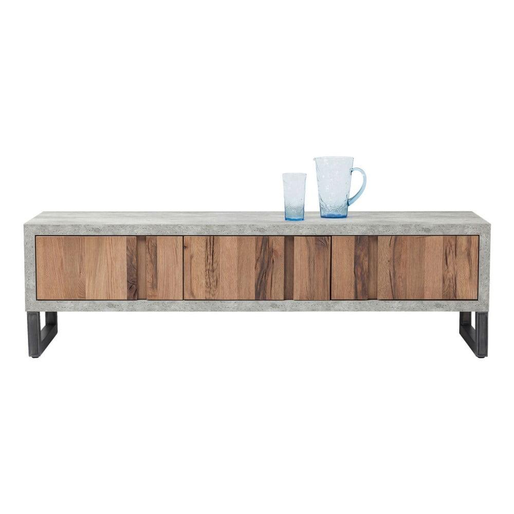 Nízká komoda/TV stolek z dubového dřeva Kare Design Seattle
