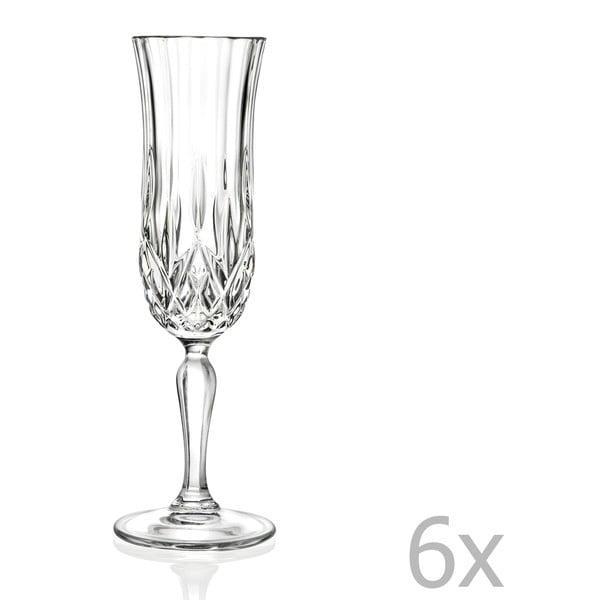 Zestaw 6 kieliszków do szampana RCR Cristalleria Italiana Maddalena