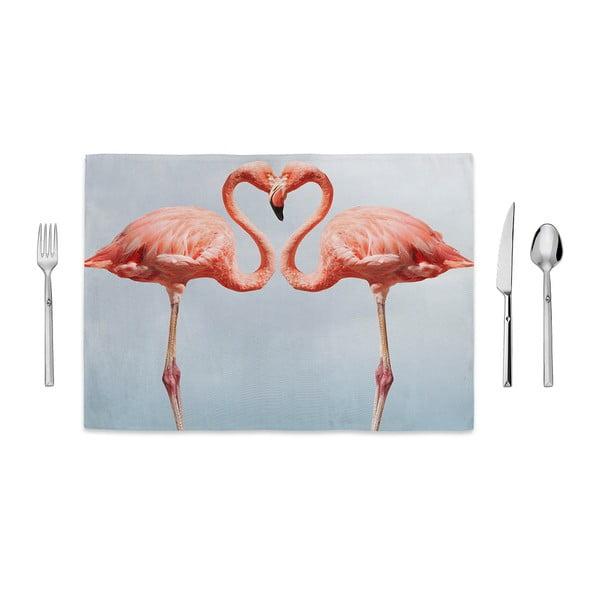 Kissing Flamingos tányéralátét, 35 x 49cm - Home de Bleu