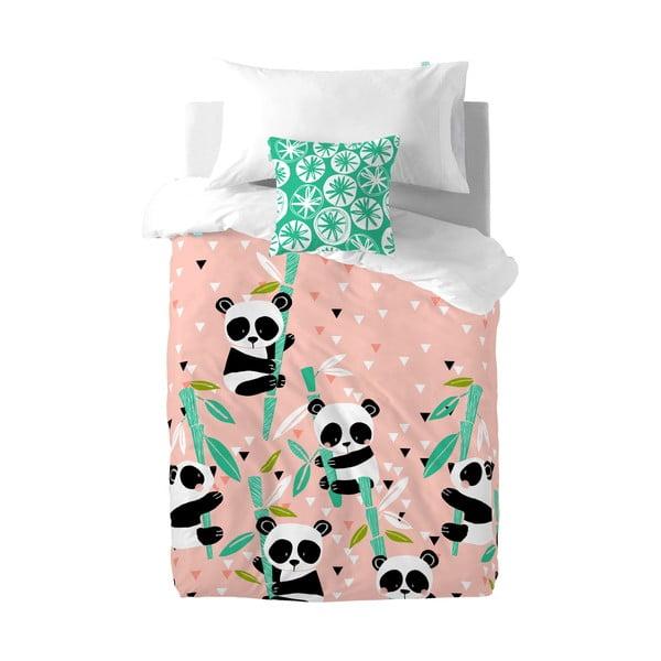 Detské bavlnené obliečky Moshi Moshi Panda Garden, 140 × 200 cm