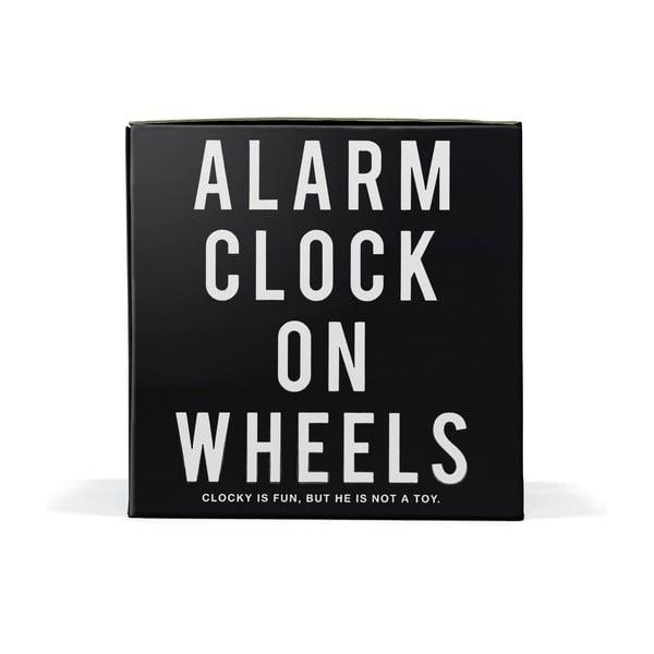 Clocky, budík na kolečkách, černý
