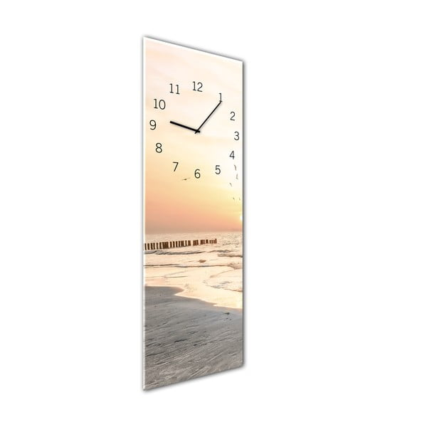 Ceas de perete Styler Glassclock Beach, 20 x 60 cm