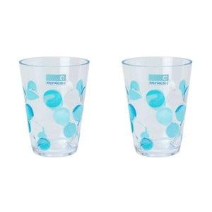 Sada modrých sklenic Spot 250 ml, 2 ks