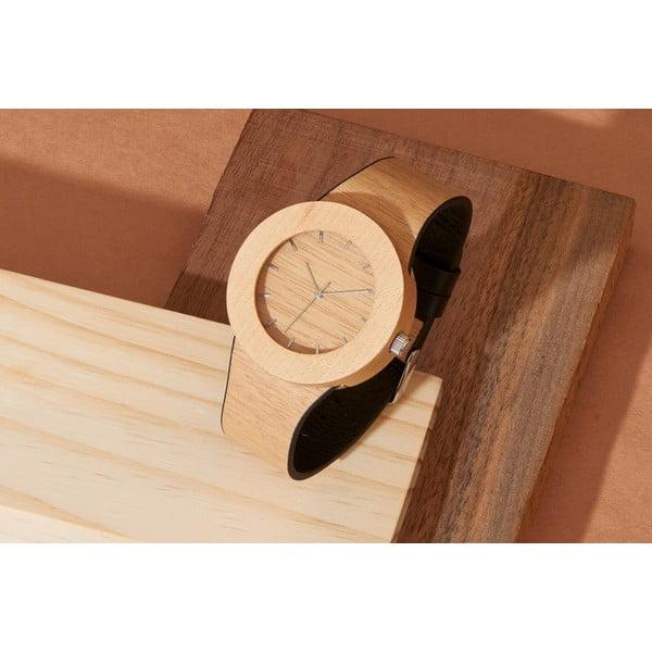 Dřevěné hodinky s hodinovými čárkami Analog Watch Co. Silverheart & Maple