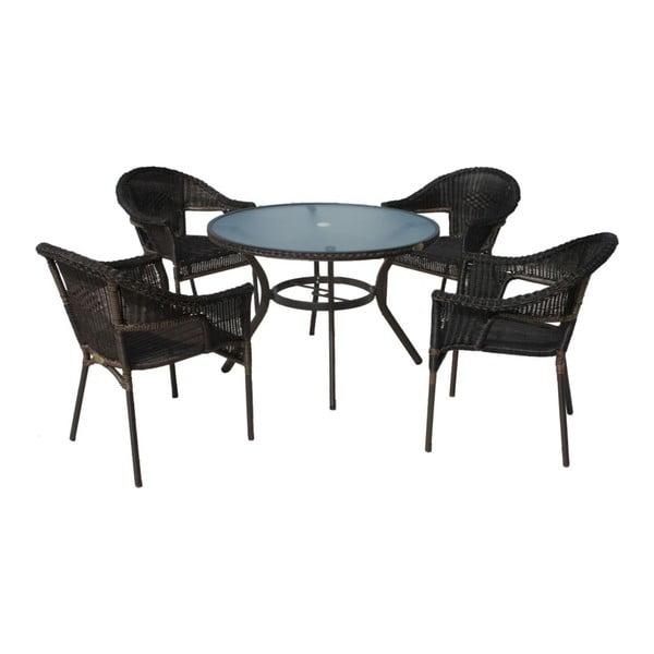 Kulatý stůl Alicante a 4 křesílka