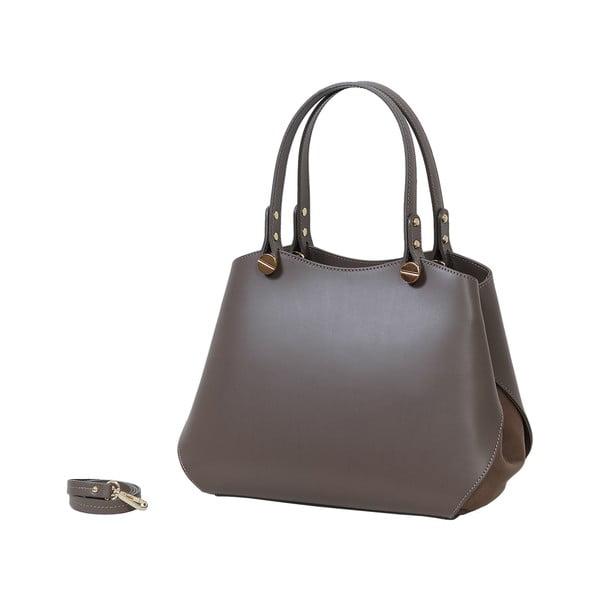 Šedohnědá kabelka z pravé kůže Andrea Cardone Sante