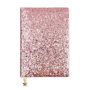 Růžový zápisník A5 GO Stationery All That Glitters Sequin