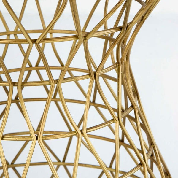 Stolička ve zlaté barvě se sametovým sedákem Thai Natura Huthi