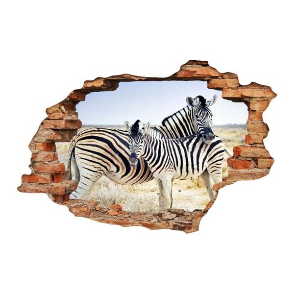 Autocolant Ambiance Landscape Zebra Mother, 60 x 90 cm