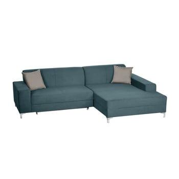 Canapea pe colț Florenzzi Bellini pe partea dreaptă albastru