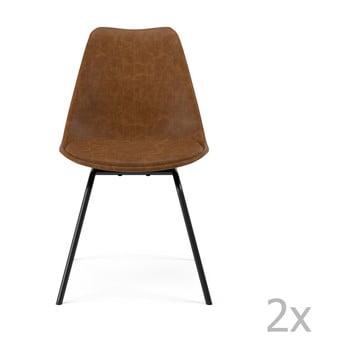 Set 2 scaune Tenzo Gina Triangle, maro de la Tenzo