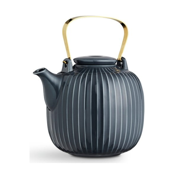 Antracitová porcelánová čajová kanvica Kähler Design Hammershoi, 1,2 l
