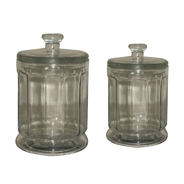 Set 2 recipiente din stică Antic Line Jar