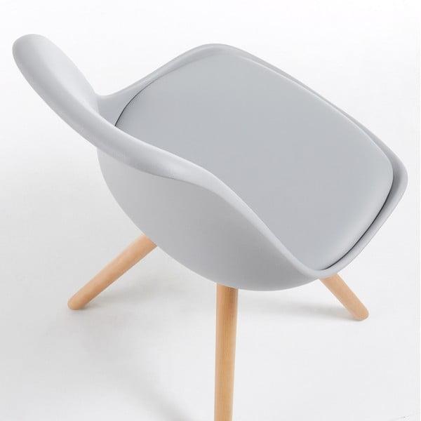 Šedá židle La Forma Lars