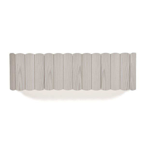 Tmavě šedá police na zeď z bukového dřeva HARTÔ, délka 124 cm