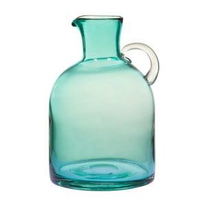 Tyrkysová skleněná váza/džbán na vodu Santiago Pons