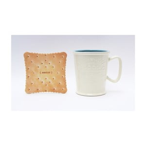 Hrnek na latté s podtáckem ve tvaru sušenky Silly Design Coffe Bar Sky, 370ml