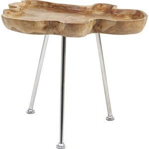 Odkládací stolek z teakového dřeva Kare Design Root
