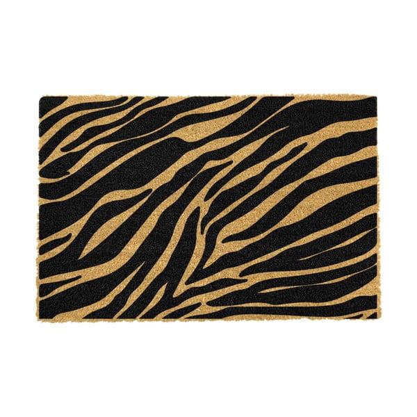 Covoraș intrare din fibre de cocos Artsy Doormats Zebra, 40 x 60 cm