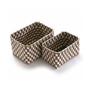 Sada 2 hnědých košíků Versa Baskets Large