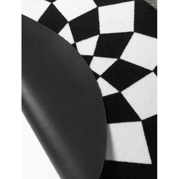 Koberec Deko - černá geometrie, 100 cm