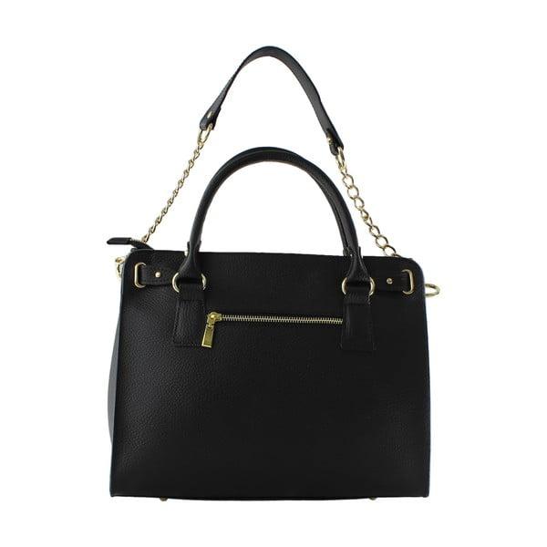 Kožená kabelka Sari, černá