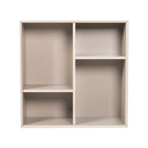 Etajeră Tenzo Z Cube, 70 x 70 cm, gri deschis
