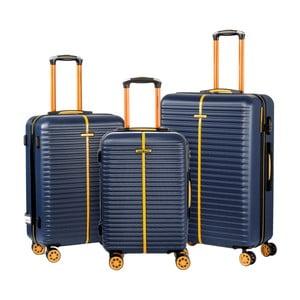 Sada 3 modrých kufrů Travel World Amazonia